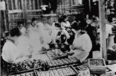 貝細工の工場